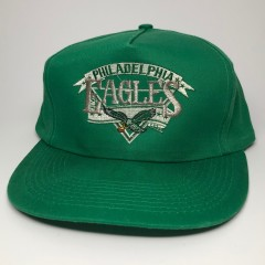 vintage 90's Philadelphia eagles kelly green nfl snapback hat