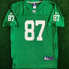 vintage kelly green brent celek philadelphia eagles throwback nfl jersey youth size XL