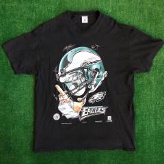 vintage 1996 philadelphia eagles delta nfl t shirt size xl