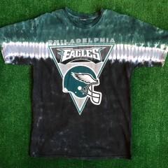 90's Philadelphia Eagles Tie-Dye NFL T Shirt Size Large
