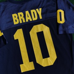 1999 Tom Brady University of Michigan Nike NCAA Jersey Size Medium