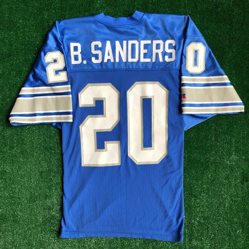 90's Barry Sanders Detroit Lions Russell Authentic NFL Jersey Size 44