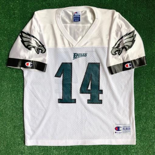 vintage 1999 Doug Pederson Philadelphia eagles nfl football jersey size youth XL Champion