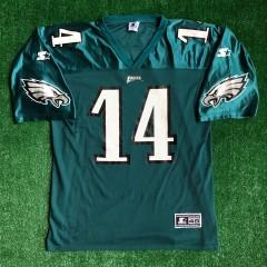 vintage 1999 Doug Pederson Philadelphia eagles nfl football jersey size Large starter