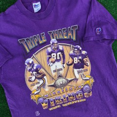 1999 Minnesota Vikings Randy moss chris carter jack reed pro player vintage nfl t shirt size large