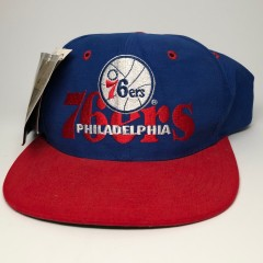 vintage 1996 philadelphia sixers 76ers the game limited edition nba snapback hat cap