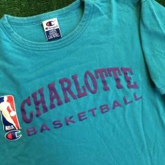 vintage 90's charlotte hornets champion nba practice shirt size large fits like medium