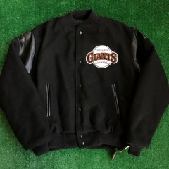 vintage 90s san francisco giants chalkline mlb varsity jacket size medium deadstock