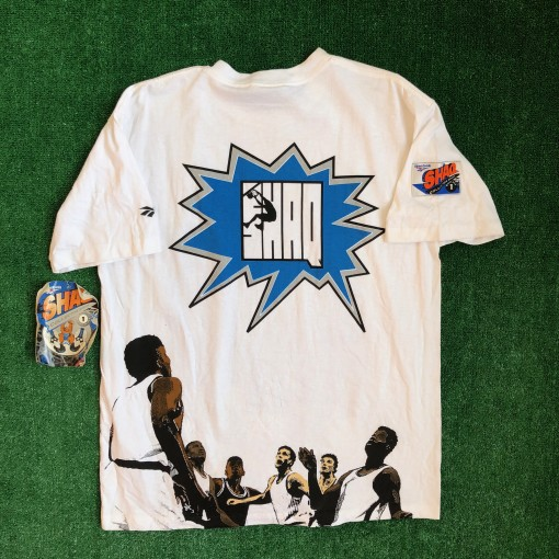 vintage 90's shaq comic book series reebok t shirt size Large