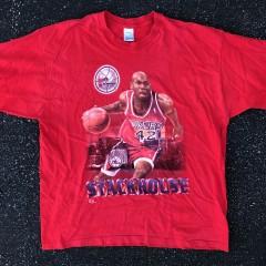 vintage 90's jerry stackhouse philadelphia 76ers salem sportswear nba t shirt size XXL