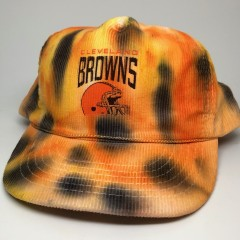 vintage 90's Cleveland Browns tie dye nfl snapback hat rare vntg