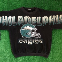 1996 Philadelphia Eagles Spell Out NFL Crewneck Sweatshirt