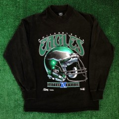 1992 Philadelphia Eagles Salem Long Sleeve NFL T Shirt Size Large