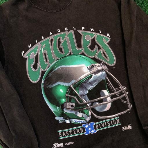 1992 Philadelphia Eagles Salem Long Sleeve NFL T Shirt Size Large