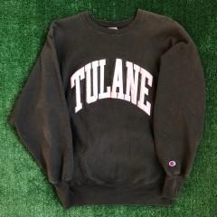 90's Tulane Green Wave NCAA Champion Reverse Weave Crewneck Sweatshirt