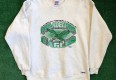 vintage 90's philadelphia eagles trench nfl crewneck sweatshirt size XL kelly green