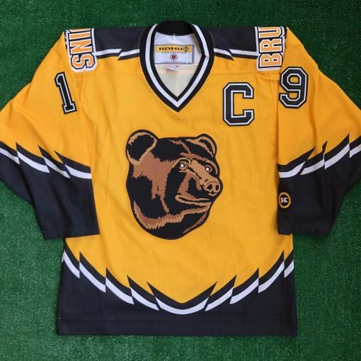 00s boston bruins joe thornton pooh bear yellow alternate koho nhl jersey size medium