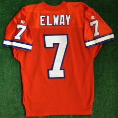 90s john elway denver broncos wilson authentic nfl jersey size 46 orange crush