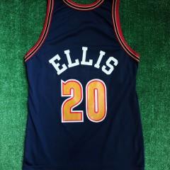 90s denver nuggets laphonso ellis champion nba jersey size 44 large