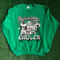 1990 Philadelphia Eagles Reggie White Mike Quick Salem NFL Crewneck Sweatshirt Size Large