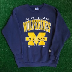vintage 90's University of Michigan wolverines ncaa starter crewneck youth xl