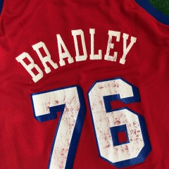 90's shawn bradley philadelphia 76ers champion shooting stars jersey size 44 large