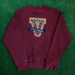 vintage 90s villanova wildcats jansport ncaa crewneck sweatshirt size xl maroon paisley
