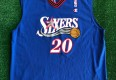 vintage 2001 eric snow philadelphia sixers 76ers champion nba jersey size 44 large