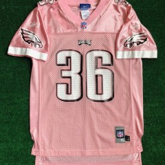 2004 Brian Westbrook Philadelphia Eagles Reebok Think Pink NFL Jersey Youth XL