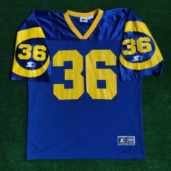 vintage 1994 jerome bettis los angeles rams starter nfl jersey size xl