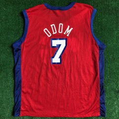 2001 Lamar Odom Los Angeles Clippers Champion NBA Jersey Size 44