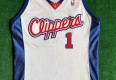 2001/02 Keyon Dooling Los Angeles Clippers Game Worn Authentic Champion NBA Jersey Size 46