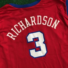 2001 Quentin Richardson Los Angeles Clippers Champion NBA Jersey Size 52