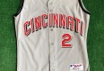 2001 Deion Sanders Cincinnati Reds Authentic Russell MLB Jersey Size 44