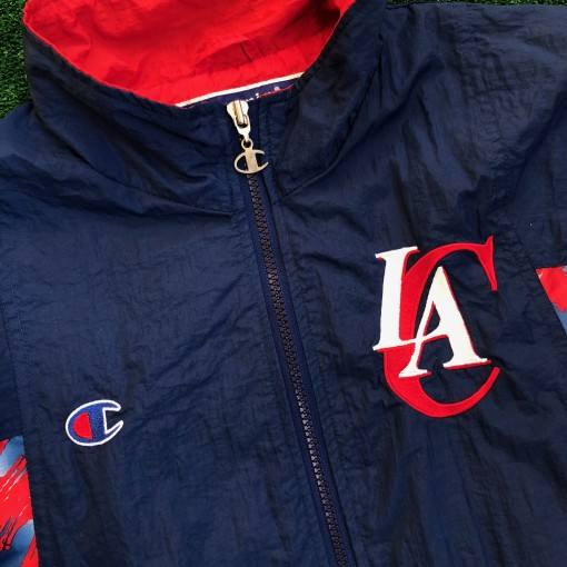 2001 Los Angeles Clippers Champion Warm Up Jacket Size Large