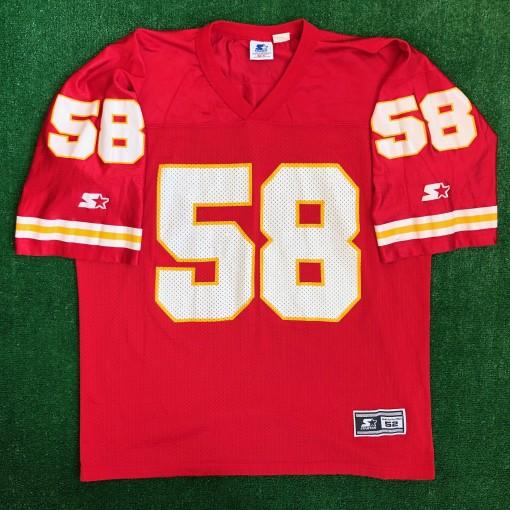 90s derrick thomas kansas city chiefs starter nfl jersey size XL
