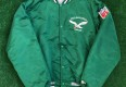 old school philadelphia eagles starter satin bomber kelly green buddy ryan jacket