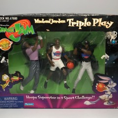1996 Michael Jordan Triple Play Space Jam Toy Action Figures
