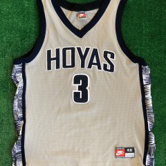 authentic georgetown hoyas allen iverson authentic ncaa jersey size 48