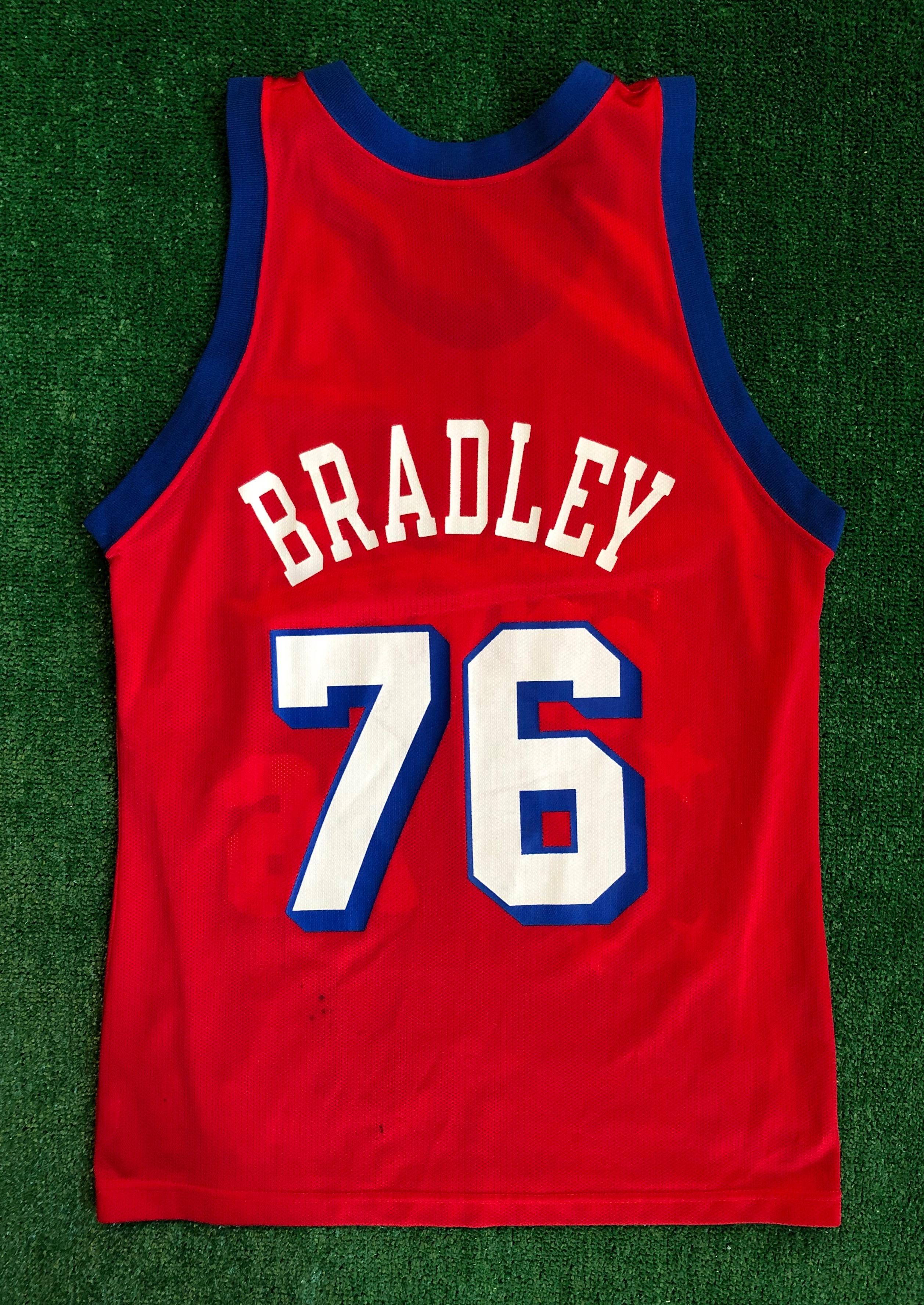 90's Shawn Bradley Philadelphia Sixers 76ers Champion NBA Jersey Size 40