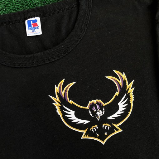 intage 90's baltimore ravens russell nfl t shirt single stitch size XL XXL