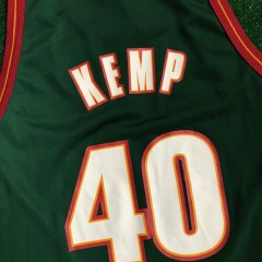 90s shawn kemp seattle super sonics champion nba jersey size 48