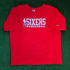 vintage 90s philadelphia sixers 76ers authentic champion nba jersey size XXL