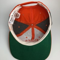 vintage 90's philadelphia flyers the game pinwheel snapback hat