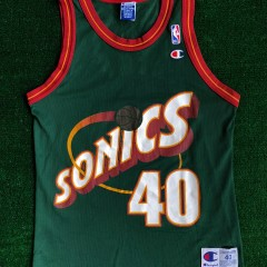 kemp sonics champion jersey size 40 medium