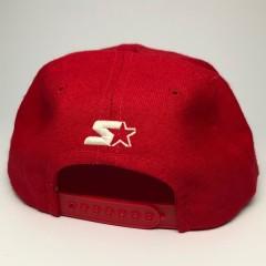 90's San Francisco 49ers Starter Red Bar NFL Snapback Hat