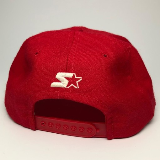 90's San Francisco 49ers Starter Red Bar NFL Snapback Hat