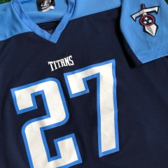 2000 Eddie George Tennessee Titans Logo Athletic NFL Jersey Size L/XL