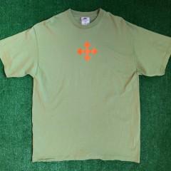 vintage 90's nike volley ball off white logo inspiration shirt green size large deadstock OG