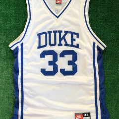 vintage 90's duke blue devils grant hill authentic nike ncaa jersey size 44 large